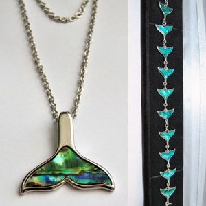 FREE BRACELET W/ NECKLACE Abalone Shell WhaleTail